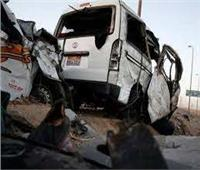 إصابة 4 أشخاص في حادث انقلاب سيارة ميكروباص بالمنيا
