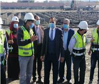 عبيد صالح يتفقد مشروع إنشاء مستشفى دمنهور الجامعي وكلية الطب