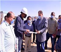 محافظ أسيوط يتابع تنفيذ محطة مياه الشرب بمدينة ناصر الجديدة