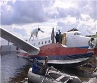 فيديو| حادث جوى للسفينة الطائرة الروسية يظهر قدرتها على البقاء