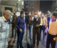 بالصور| محافظ الإسماعيلية يتفقد اعمال رصف الشوارع