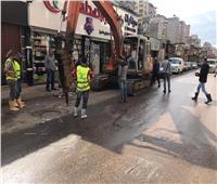 لمواجهة تجمعات المياه.. تجديد خط الصرف الصحي بملك حنفي بالإسكندرية