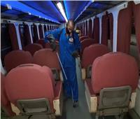 صور| مواجهة كورونا بتعقيم القطارات والتشديد على «الكمامة»