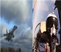 شاهد| مناورات جوية روسية بمشاركة المقاتلات سوخوي «Su-35S»