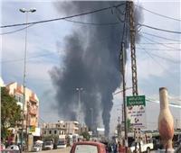 عاجل| بالفيديو حريق ضخم بخط بترول منطقة العبدة شمال لبنان