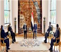 فيديو| الرئيس السيسي يستقبل سام نيوما رئيس جمهورية ناميبيا الأسبق