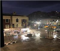 سقوط أمطار غزيرة على مدن وقرى كفر الشيخ