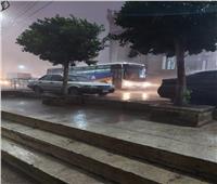 إصابة شخصين وانهيار سور منزل بسبب الأمطار الغزيرة في المنصورة