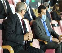 وزير الرياضة في مقصورة استاد القاهرة لمؤازرة المنتخب