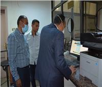 نائب محافظ المنيا يتابع طلبات التصالح بالمركز التكنولوجي