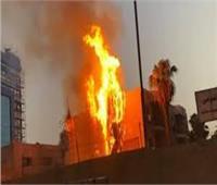 إصابة 5 عمال في حريق مصنع ببني سويف