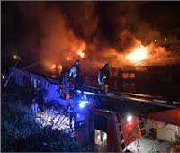 إصابة 4 أشخاص اثر اندلاع حريق هائل في محطة مترو ببرلين