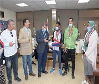 جامعة القناة تكرم الطلاب الحاصلين على جوائز بطولتي الجمهورية للمياه المفتوحة