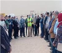 محافظ المنيا يتفقد المشروعات القومية والقطاعات الخدمية بمركز ملوي