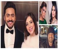 آخرهم تامر حسني وبسمة بوسيل .. فنانون رفعوا شعار «المسامح كريم»