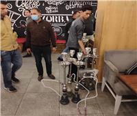 وقف أعمال بناء مخالفة وحملة علي مقاهى تقدم شيشة في سبورتنج