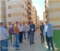 قيادات «الإسكان» يتفقدون مشروع 1185 بحدائق أكتوبر