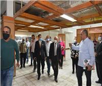 رئيس جامعة أسيوط يتفقد أعمال إنشاء مركز النيل