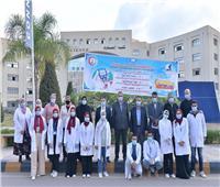 «تمريض كفر الشيخ» تنظم حملة توعية ضد أمراض «السكر والضغط»