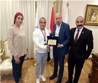 الأولمبية تكرم شريف مصطفى الشيوي