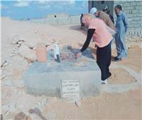 تسليم 41بئر نشو لأهالي البادية بـ قرى الصحراء