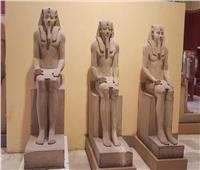 تعرف على مجموعة تماثيل الملك سنوسرت التي تزين المتحف الكبير.. صور