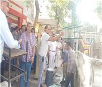 رئيس حي بالسيدة زينب يشن حملة لازالة التعديات