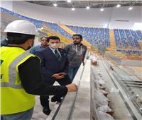 وزير الرياضة يتفقد المدينة الرياضية والصالة المغطاة بالعاصمة الإدارية