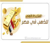 إنفوجراف   المزايدة الأولى للذهب في مصر