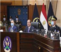 صور | الرئيس السيسي يشهد اختبار كشف الهيئة لطلبة أكاديمية الشرطة