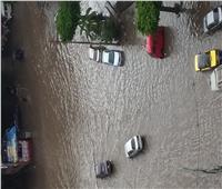 الإسكندرية تغرق في مياه الأمطار.. صور