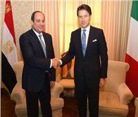 السيسي يبحث مع رئيس وزراء إيطاليا القضية الليبية والتطورات في شرق المتوسط