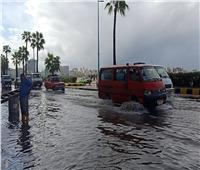 أمطار مستمرة.. 12 صورة ترصد موجة الطقس الغير مستقر بالإسكندرية