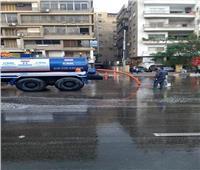 سيارات شفط المياه تنتشر في القاهرة والجيزة  صور