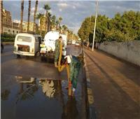 محافظ الجيزة يتابع مجهودات شفط مياه الأمطار بالأحياء والمراكز