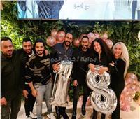 صور| تامر حسني ومصطفى حجاج يحتفلان بعيد ميلاد ابنة هاني محروس