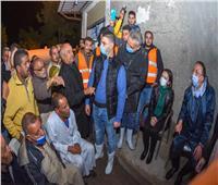 مساعدات عاجلة لأهالي عزبة المطار ومتضرري النوة بالإسكندرية