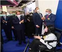 جولة الرئيس السيسي بمعرض النقل الذكي للشرق الأوسط وإفريقيا «صور»
