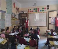 تحت شعار «دعم العودة الآمنة بالمدارس» استمرار أنشطة الهلال الأحمر التوعوية