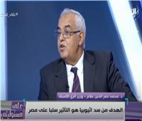 وزير الري الأسبق: الهدف من سد النهضة التأثير سلبا على مصر   فيديو