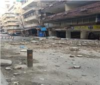 انهيار جزئي لعقار بمنطقة العصافرة في الإسكندرية