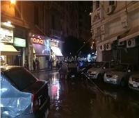 هطول أمطار غزيرة على محافظة الإسكندرية «فيديو وصور»