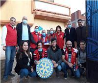 روتاري صن رايز الإسكندرية ينظم قافلة طبية بمنطقة أبيس