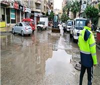 أمطار غزيرة وعواصف تضرب الإسكندرية.. والدفع بـ 128 سيارة شفط  صور