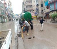 صور| أمطار غزيرة على المناطق الشمالية بكفر الشيخ