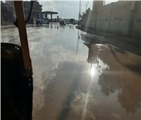 صور| أمطار غزيرة مصحوبة بالرعد والبرق في البحيرة