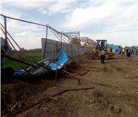 محافظ المنوفية: تنفيذ 4 حالات إزالة تعديات على الأراضي الزراعية