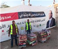 توزيع المواد الغذائية والملابس على الأسر الأولى بالرعاية بالمحافظات