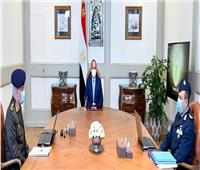عاجل | الرئيس السيسي يلتقي وزير الدفاع وقائد القوات الجوية