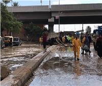 محافظ الإسكندرية: تصريف تراكمات مياه الأمطار بالمناطق المتضررة
